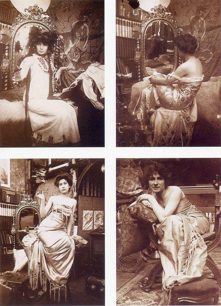 Alphonse Mucha studio photographs More