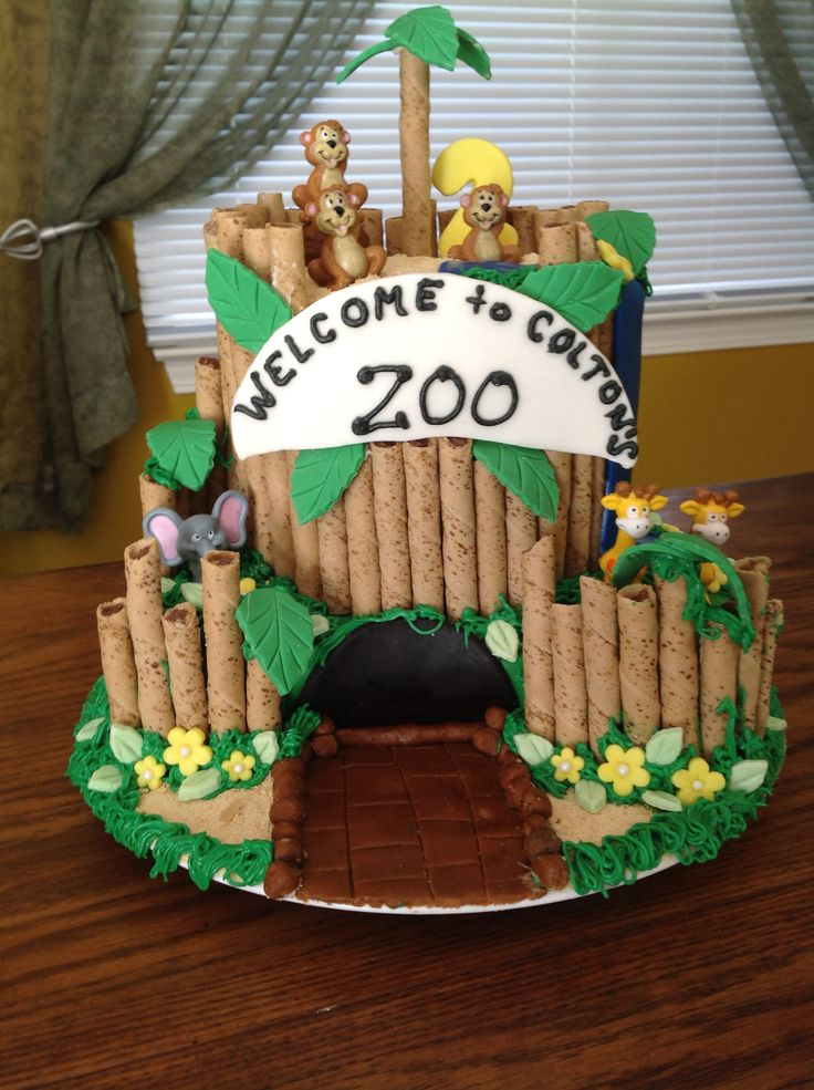 Large Zoo Cake September 2013 Kathy S Kakes