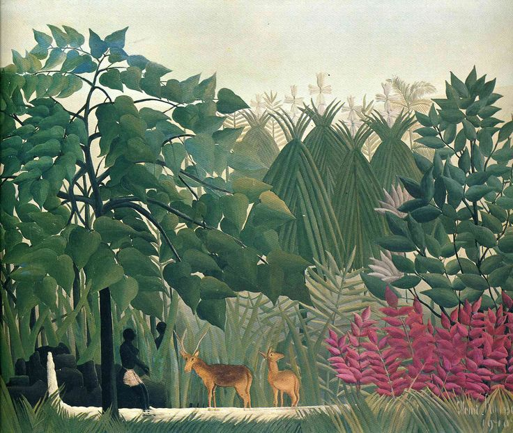 Henri Rousseau (1844-1910) Henri Rousseau was a French Post-Impressionist painter who specialized in Naïve or Primitive manner. Description from pinterest.com. I searched for this on bing.com/images