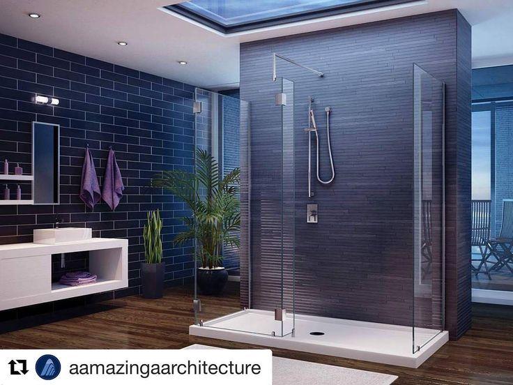 Erstaunliche Duschkabine. von @aamazingaarchitecture. #architektur #showertime #architekturliebhaber #interior #interiordesign #badezimmer #luxuryli …