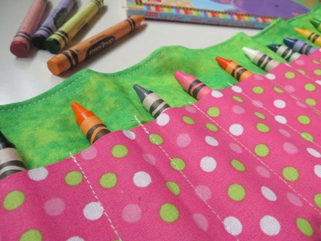 Crayon Roll Tutorial.  You guys.  This is sew cute. Jen