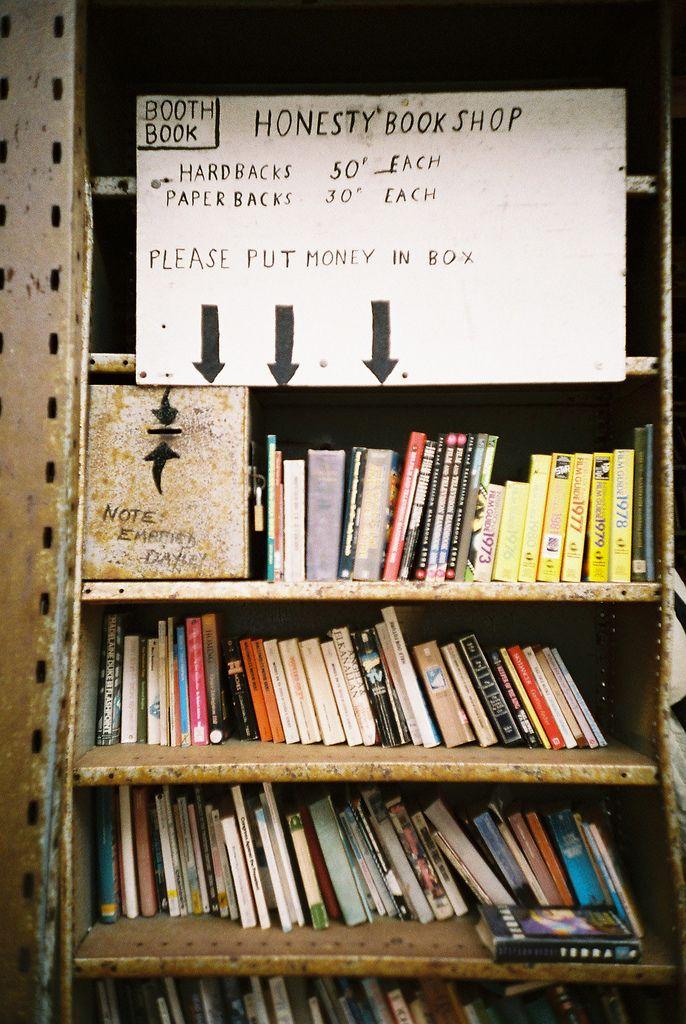 Honesty book shop by World of Oddy: Bookshop Ideas, Honesty Bookshop, Books Stores, Junk Bookshop, Bookstores Ideas, Bookshelves Libraries Nooks, New Books, Libraries Books, Books Shops