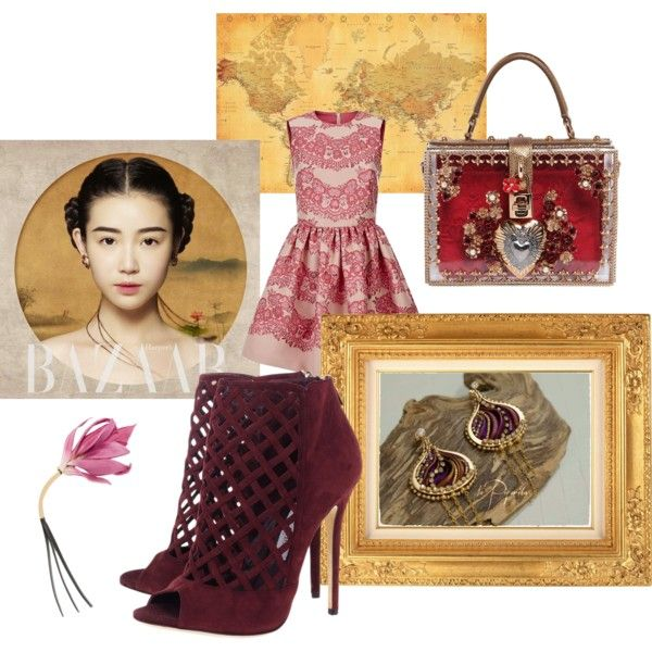 soutache earrings by veronica-papi on Polyvore featuring moda, RED Valentino, Jimmy Choo, Dolce&Gabbana and Marni