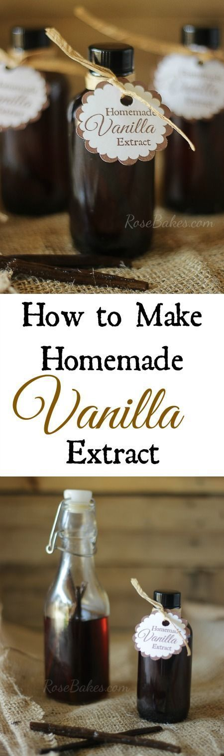 How to Make Homemade Vanilla Extract - Only 2 Ingredients - Makes a wonderful gift!