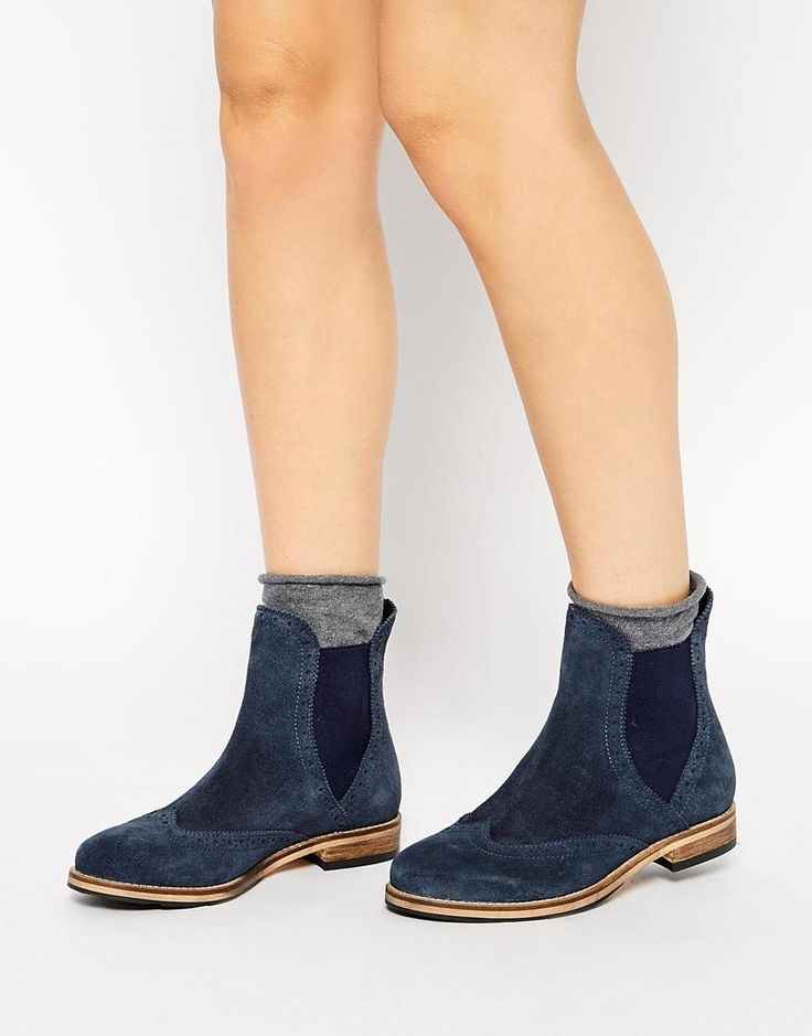 ASOS   ASOS ABSENT MIND Suede Chelsea Ankle Boots at ASOS