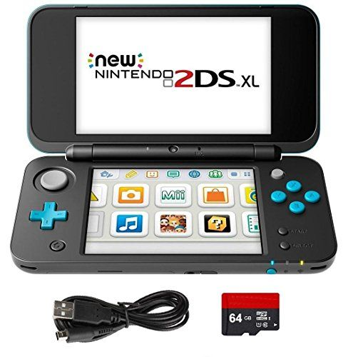 in the picture:New Nintendo 2DS XL 4 Items Bundle: New Nintendo 2DS XL – Black + Turquoise Console, USB Sync Charge USB Cable, Mytrix Travel USB Wall Charger and Micro SD Card 64GB lots of color options – get more info:https://www.amazon.com/dp/B074CFNBX9    Is the New Nintendo 2DS XL 4 I...