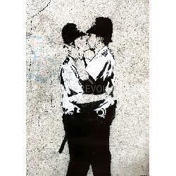 Policemen Kissing by Banksy