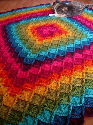crochet pattern - wool eater blanket rainbows :) love ...