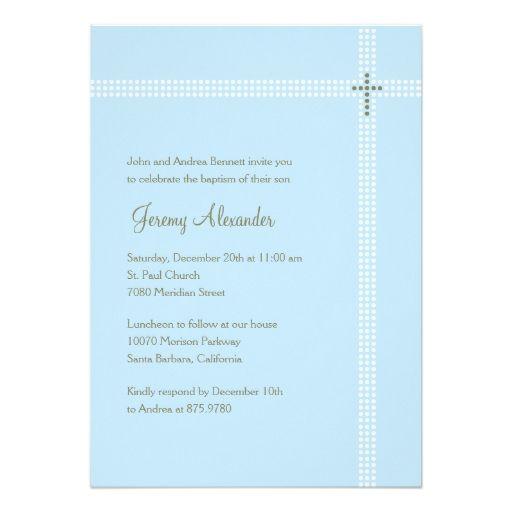 1507 best baptism christening invitations images on pinterest crossed corner baptismchristening invitation stopboris Images