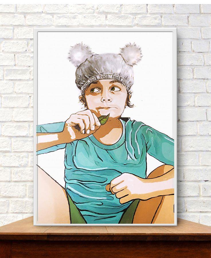 Original Acrylic painting 'Koala in Undies' by Donna Christie see www.thesocietyofgoodeggs.com