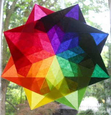 Waldorf Window Stars - tutorial links and paper info