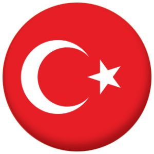 High quality badges detailing the flag of Turkey