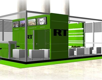 """Check out new work on my @Behance portfolio: """"Russia Today TV Exhibition Booth""""…"""