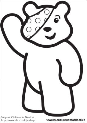 Pudsey eye patch face paint