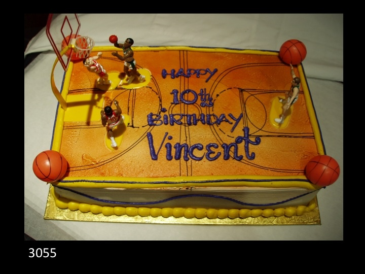 Basketball court birthday cake with players | Sports Cakes ...