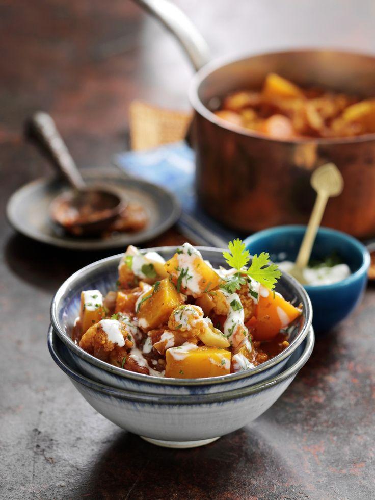 butternut-bloemkoolcurry met lamsgehakt