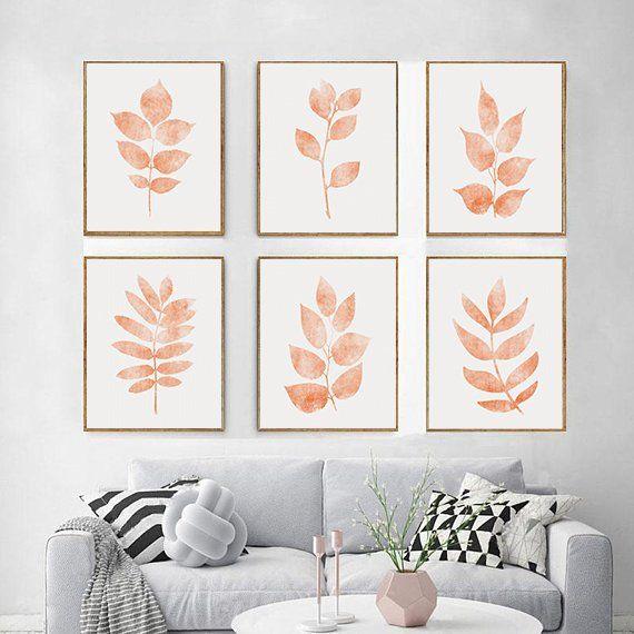 Wall Art Set Of 6 Fall Wall Art Decor Autumn Leaves Print