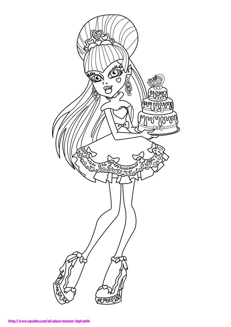 37 best colouring - monster high images on pinterest | adult ... - Coloring Pages Monster High Dolls