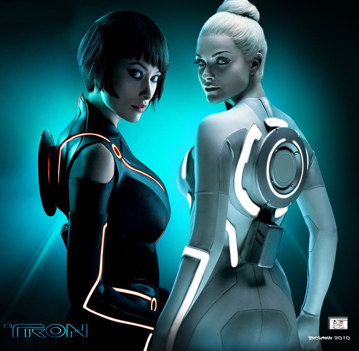 The two ladies of 'Tron'...Olivia Wilde and Beau Garrett...got that latex thing going on....