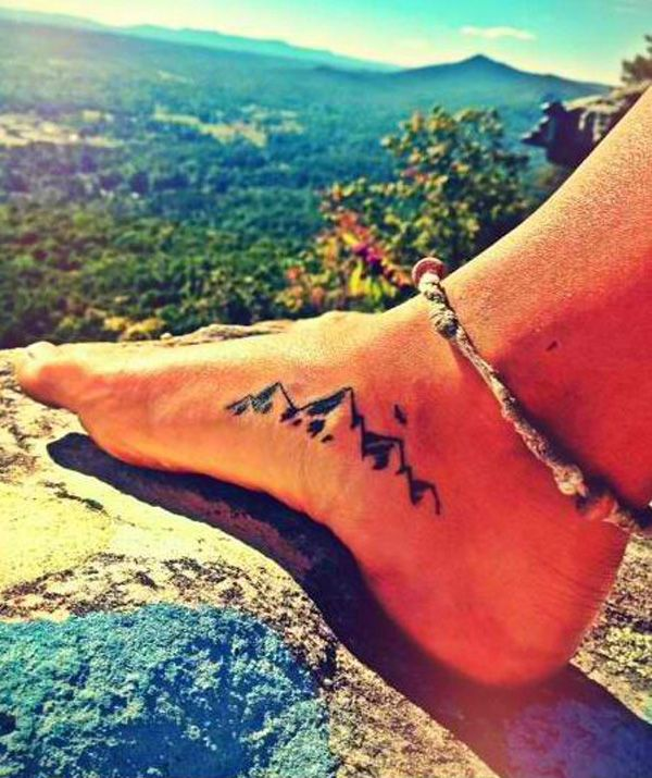This little mountain tattoo on your foot could signify your willingness to go on a rocky journey to get your goals.