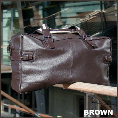 BACCINI Borsone viaggio ROBERTO - bagaglio weekend - taglia L - borsa da palestra vera pelle marrone (50 x 32 x 17 cm): Amazon.it: Scarpe e borse