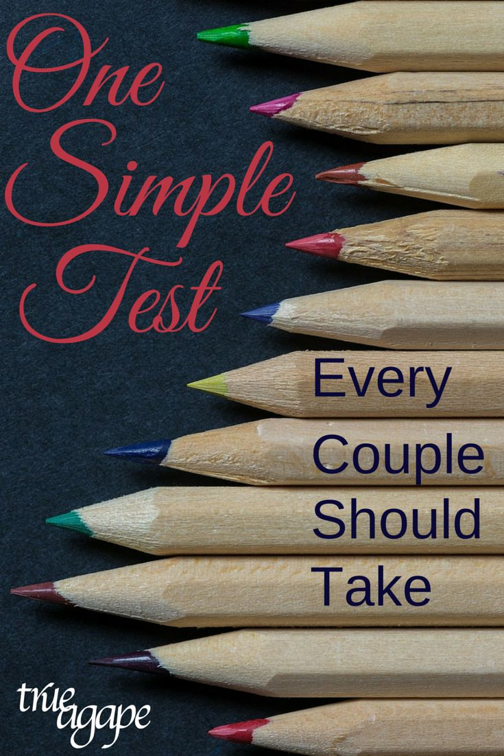 This one simple test changed my whole relationship and marriage!