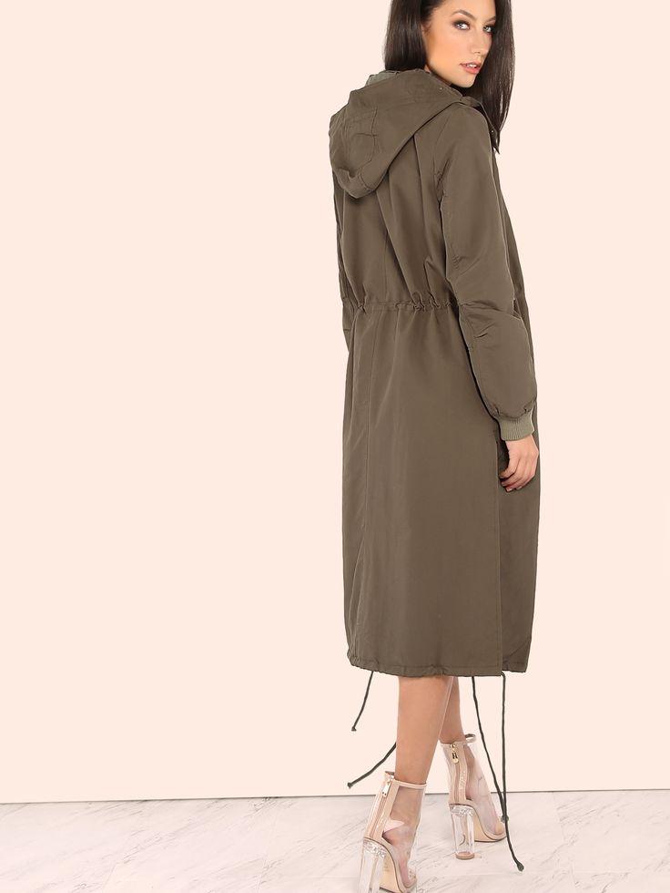 Модная длинная куртка бомбер