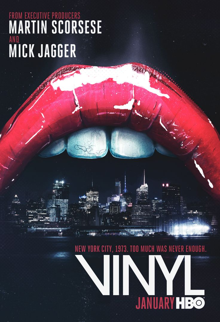 Vinyl on HBO. From the minds of Martin Scorsese and Mick Jagger.