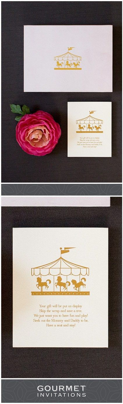 31 best bridal shower invitations images on pinterest wedding carousel invitation a baby shower music box invitation filmwisefo Gallery