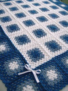 baby boy granny square crochet blanket - Google Search