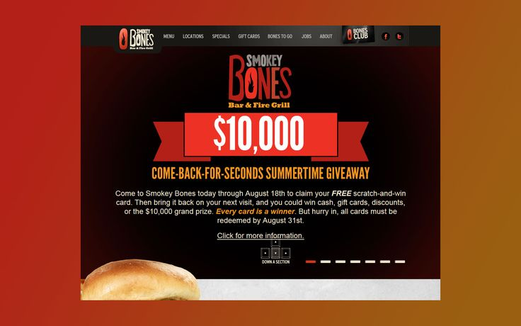 Come Back for Seconds Summer Sweepstakes at Smokey Bones
