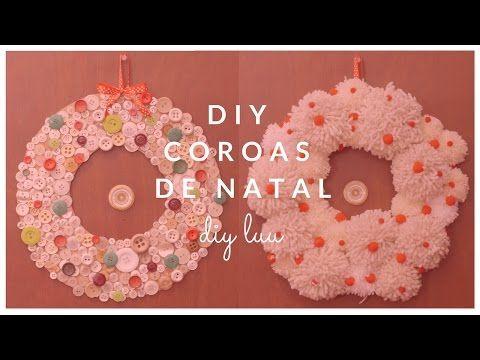 DIY Coroas de Natal com botões e pompons | diyluu - YouTube