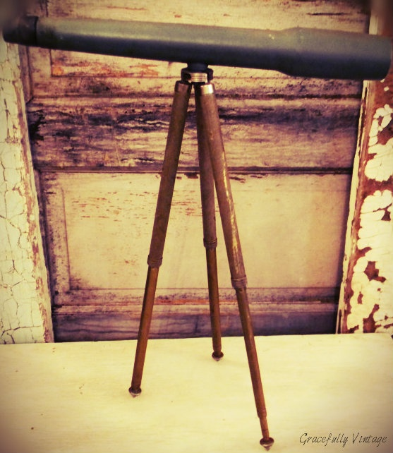 Old Rustic Telescope, makes a Wonderful Accent Piece