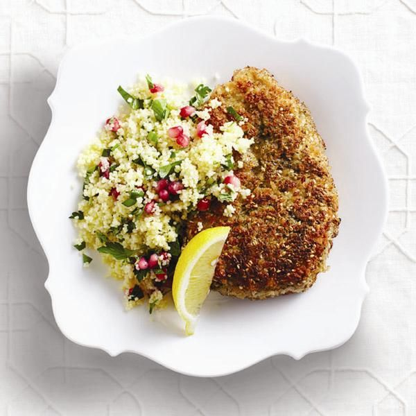 Looking for a new dinnertime chicken dish? Try our panko-fried Middle Eastern crispy chicken breast recipe with a fragrant za'atar spice blend.