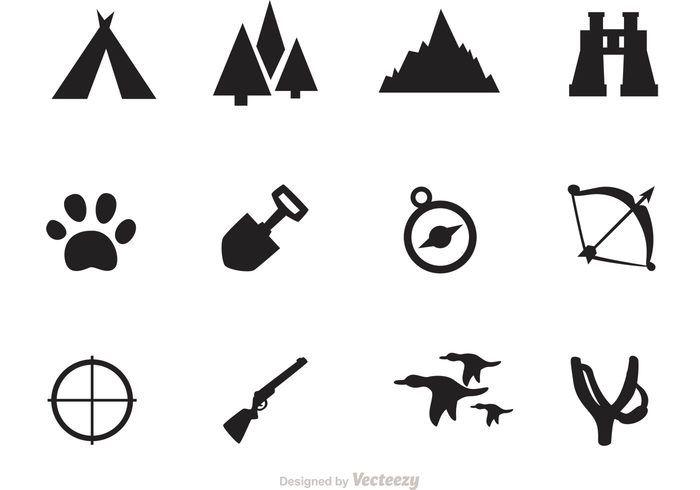 Free vector Camping And Hunting Icon Vectors #21410