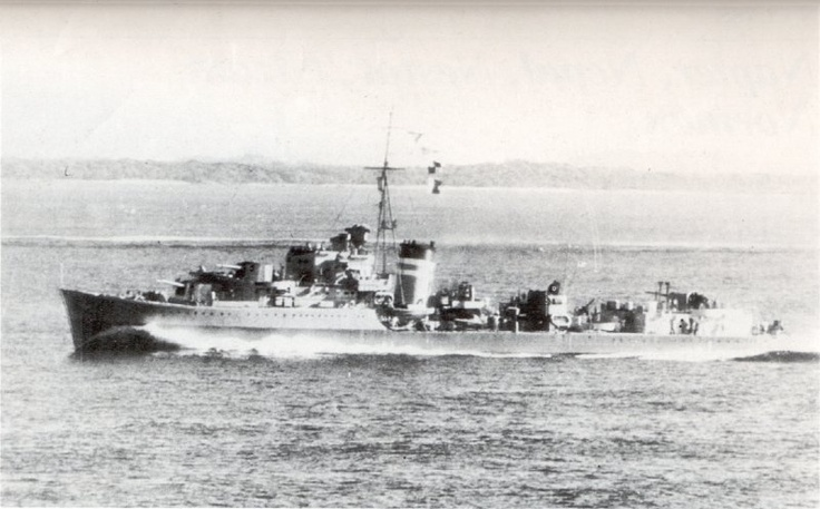 HMAS Napier (G97/D15) was an N class destroyer serving in the Royal Australian Navy (RAN) during World War II. Built During 1939 and 1940, the destroyer was commissioned into the RAN, although she was ordered and owned by the British government. During 1941, Napier operated in the Mediterranean, before being transferred to the British Eastern Fleet at the start of 1942, then to south Atlantic operations in early 1944.