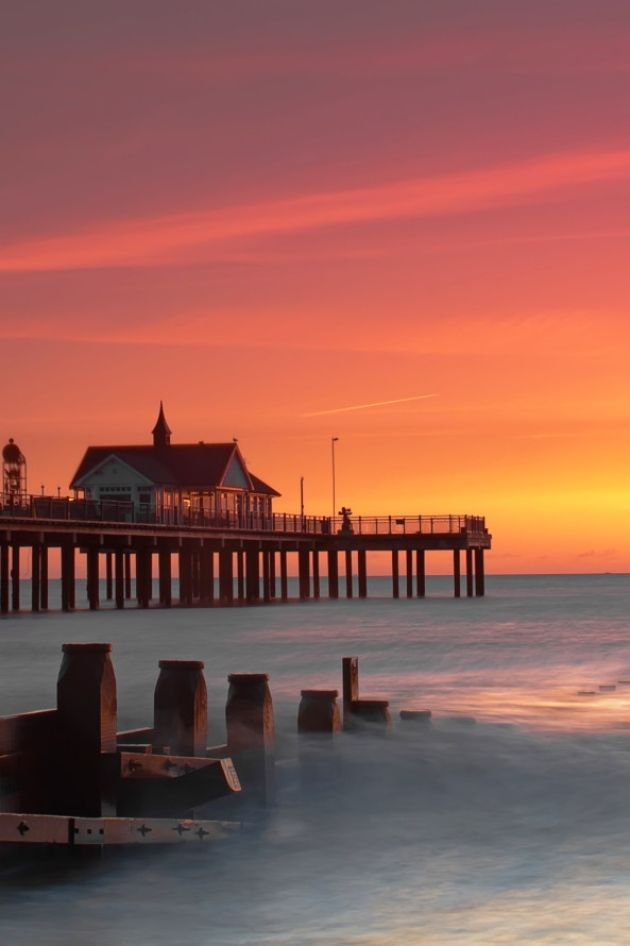 Southwold Pier at Sunrise, , Suffolk, England