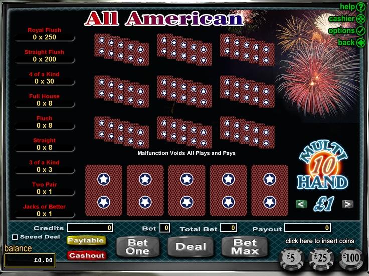 online casino test poker american