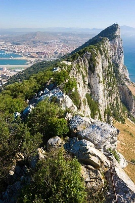 Rock of Gibraltar, view to Spain
