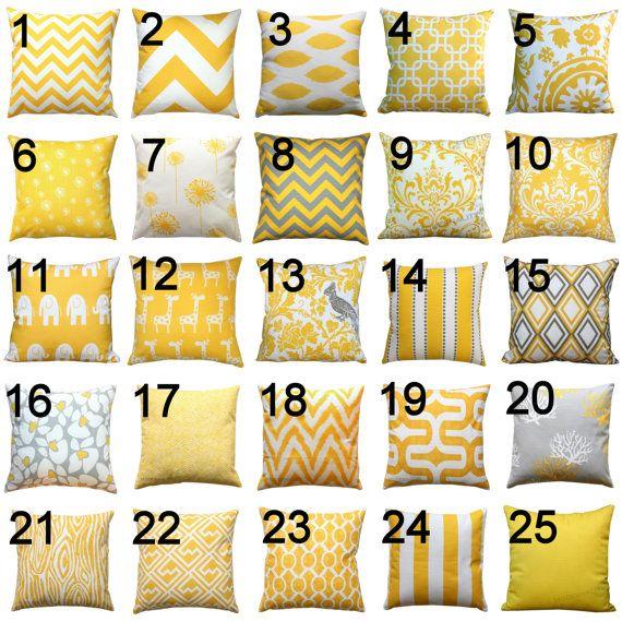 Premier Prints Yellow Pillow Cover- 14x14 inches- Hidden Zipper Closure- You Choose
