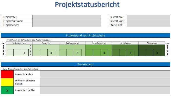 Ein Wichtiges Tool Im Projektmanagement Ist Der Projektstatusbericht Jedes Projekt Hat Auftraggeber Die Uber Den A Projekt Planung Projektmanagement Projekte