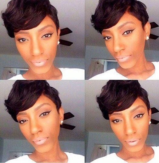 cute work hairstyles : Short Pixie Sew In Hair Work 2 Pinterest Short pixie, The o ...