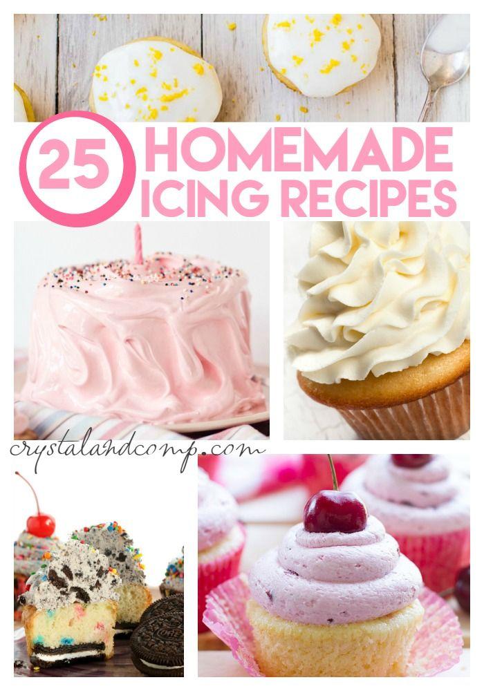 25 homemade icing recipes