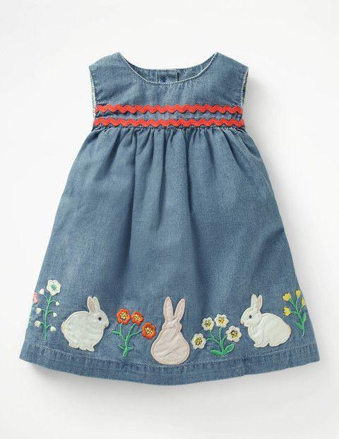 Bunny Rabbit Appliqué Dress #easteroutfit