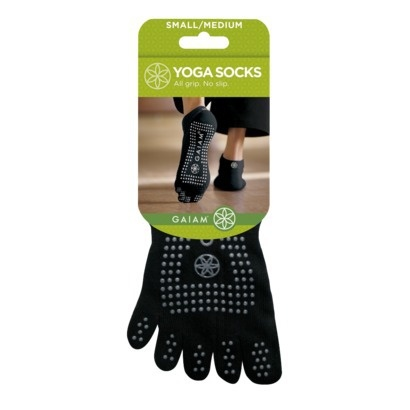 Gaiam Gripping Nonslip Yoga Socks - S/M