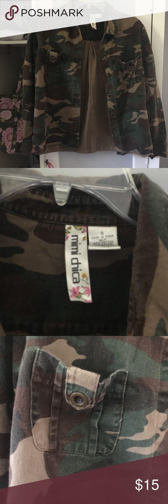 Camo top Super cute Zara Jackets & Coats
