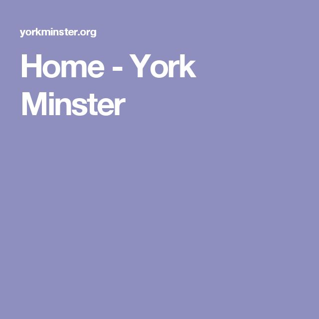 Home - York Minster