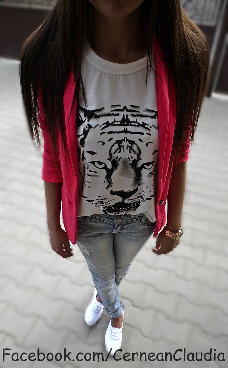 Tiger T-shirt : http://www.dresslily.com/tiger-head-print-short-sleeve-t-shirt-product419430.html?Blog=ClaudiaCernean