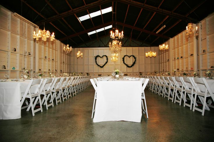 Wedding Reception in the old honey house.