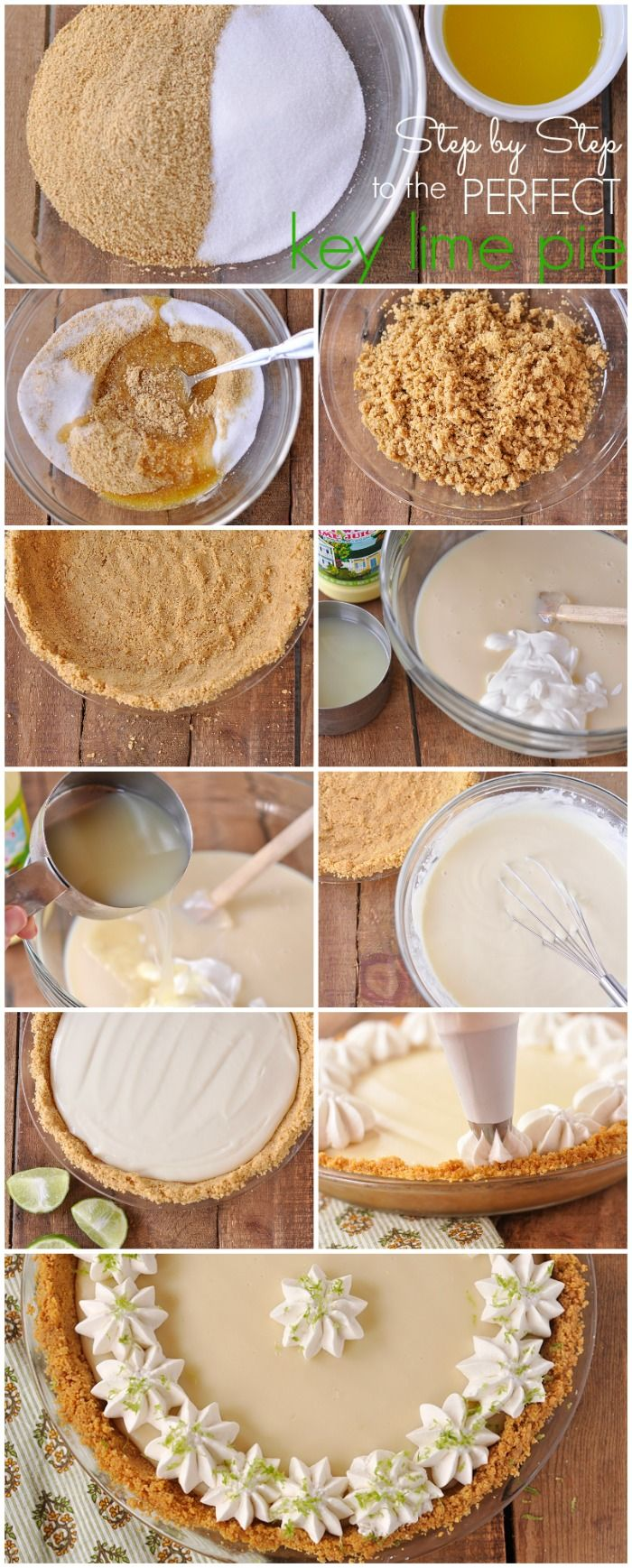A great step by step key lime pie tutorial from yourhomebasedmom.com